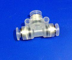 Sparton-Pressure-Tee-Push-Fit-F-F-F--for-1/4-Dacarbond-Tubing---Plastic-(10014377-on-some-stock-lists)-(32153)